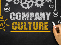 Company Culture concept on blackboard