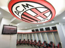 GIUSEPPE MEAZZA STADIUM, MILAN, ITALY - 2016/05/23: Dressing room of AC Milan at Giuseppe Meazza Stadium. This dressing room will be used by Atletico Madrid during the 2016 Champions League Final. (Photo by Nicolò Campo/Pacific Press/LightRocket via Getty Images)