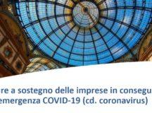 COVID19 – Misure e facilitazioni a sostegno delle imprese